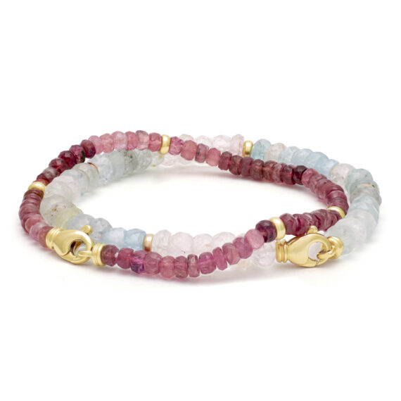 Aquamarijn armband, multi-color